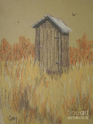 Art Print featuring the painting The Outhouse by Suzanne McKay