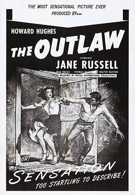 The Outlaw, Us Poster, From Left Jane Art Print