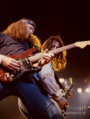 80s Rock Photograph - The Outlaws - Hughie Thomasson And Freddie Salem At Oakland Coliseum by Daniel Larsen