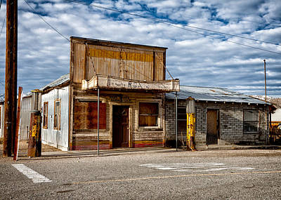 Telephone Poles Photograph - The Outpost Darwin Ca by Troy Montemayor