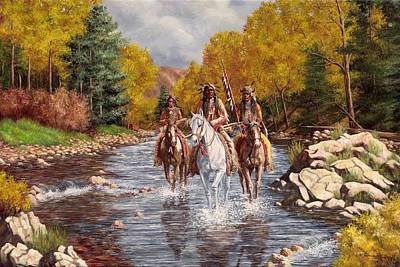 Cowboys And Indians Painting - The Outriders by Jeroem Vogschmidt