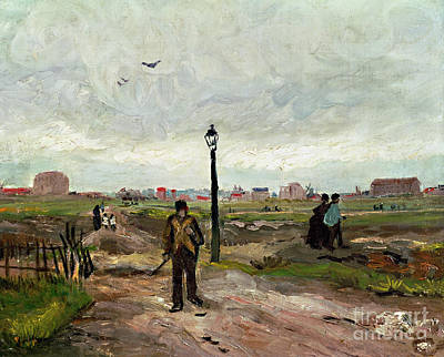 Lamppost Painting - The Outskirts Of Paris by Vincent van Gogh
