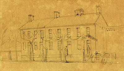 Lincoln Drawings Drawing - The Owens House by Quint Lox