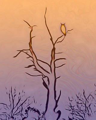Digital Art - The Owl Digital Art by Ernie Echols