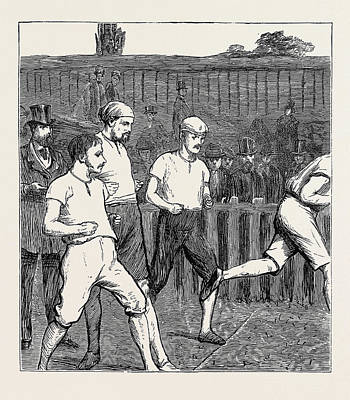 The Oxford And Cambridge Athletic Sports A False Start Art Print by English School