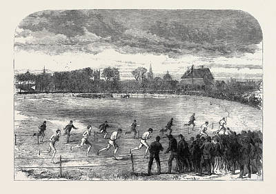 Athletic Drawing - The Oxford And Cambridge Athletic Sports In The Christ by English School
