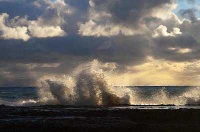The Pacific Calms Down Art Print by Joe Schofield