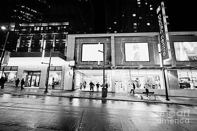the pacific centre granville street shopping mall Vancouver BC Canada Art Print by Joe Fox