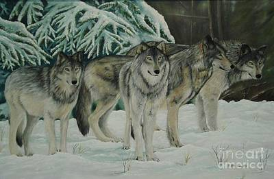 Artist Painting - The Pack by Gilles Delage