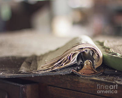 Ledger Books Photograph - The Pages by Jillian Audrey Photography