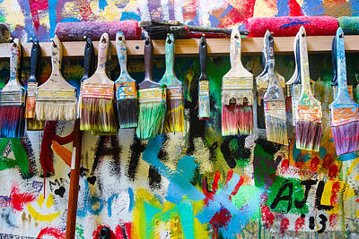Photograph - The Paint Closet by Heidi Hermes