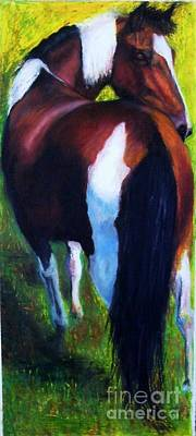 Abstract Equine Painting - The Paint by Frances Marino