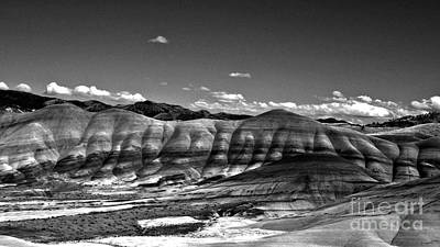 Photograph - The Painted Hills Bw by Chalet Roome-Rigdon