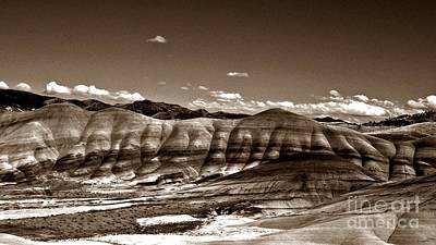 Photograph - The Painted Hills In Sepia by Chalet Roome-Rigdon
