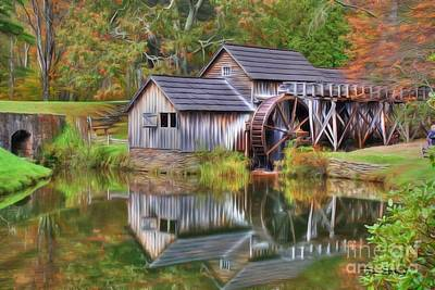 The Painted Mill Art Print