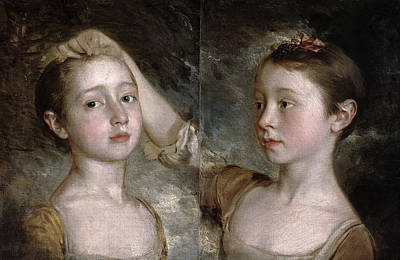 Margaret Painting - The Painters Daughters Mary by Thomas Gainsborough