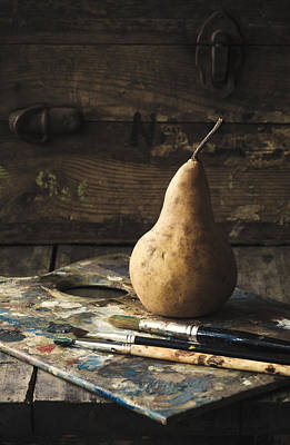 Messy Photograph - The Painter's Pear by Amy Weiss