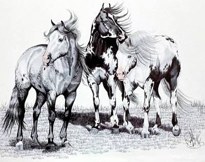 Drawing - The Paints Of Sleeping Wheel Ranch by Cheryl Poland