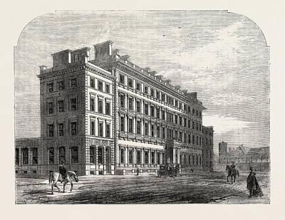 Buckingham Palace Drawing - The Palace Hotel Buckingham Gate by English School