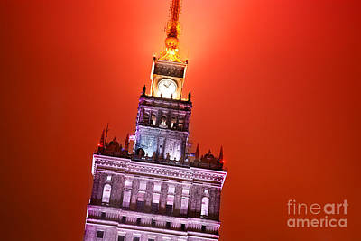 Photograph - The Palace Of Culture And Science Warsaw Poland  by Michal Bednarek