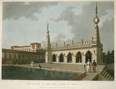 The Palace Of The Late Narob Of Arcot Print by British Library