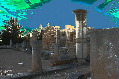 God Of Light Digital Art - The Palaestra -temple Of Apollo by Augusta Stylianou