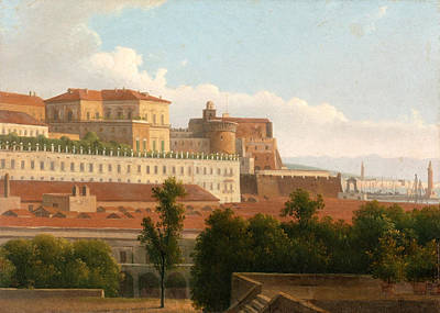 Painting - The Palazzo Reale And The Harbor. Naples by Alexandre-Hyacinthe Dunouy