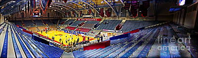 Bleachers Photograph - The Palestra At Night by Tom Gari Gallery-Three-Photography