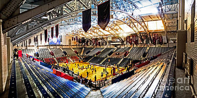 Bleachers Photograph - The Palestra In The Afternoon by Tom Gari Gallery-Three-Photography