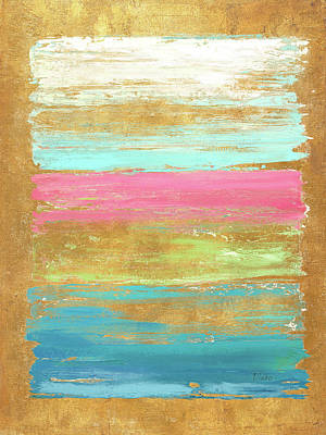 Pink Abstract Painting - The Palette With Pink by Patricia Pinto