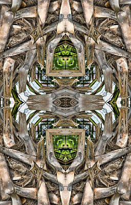 Digital Art - The Palm Project 1 Vertical  by Wendy J St Christopher