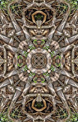 Digital Art - The Palm Project 11 Vertical by Wendy J St Christopher