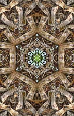 Digital Art - The Palm Project 12 Vertical by Wendy J St Christopher