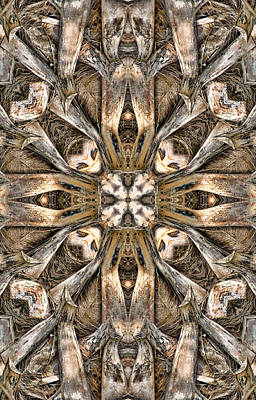 Kaleidoscope Digital Art - The Palm Project 3 Vertical by Wendy J St Christopher