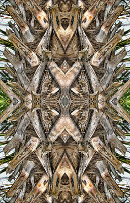 Digital Art - The Palm Project 5 Vertical by Wendy J St Christopher
