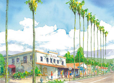 Ray Cole Painting - The Palms by Ray Cole