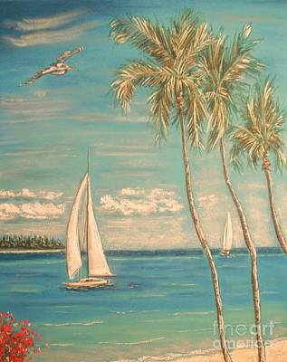 Painting - The Palms by The Beach  Dreamer
