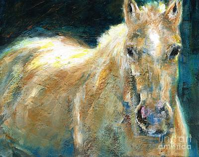 Abstract Equine Painting - The Palomino by Frances Marino