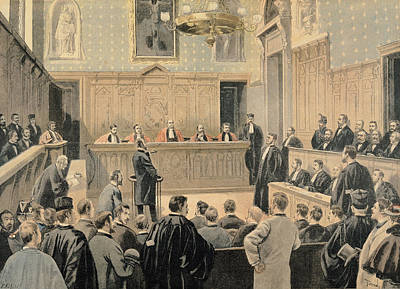 Corruption Photograph - The Panama Trial, From Le Petit Journal, Engraved By Fortune Louis Meaulle 1844-1901 2nd January by Oswaldo Tofani