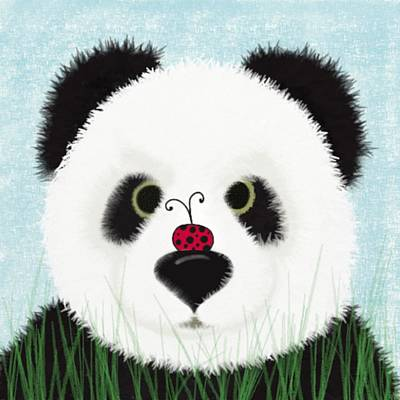 Painting - The Panda And His Visitor  by Michelle Brenmark
