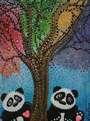 Panda Bear Painting - The Panda Tree by Laura Barbosa