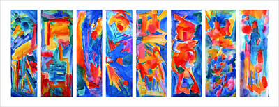 Yello Painting - The Panels Of Man by  Tolere