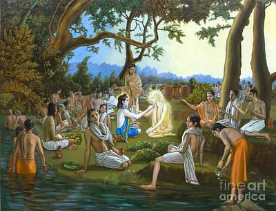 Sadhu Painting - The Panihati Festival by Dominique Amendola