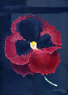 Painting - The Pansy by Katherine Miller