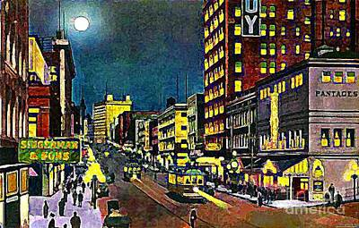 The Pantages Theatre In Seattle Wa Around 1910 Print by Dwight Goss