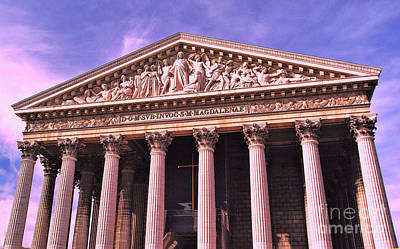 Photograph - La Madeleine Paris by Allen Beatty
