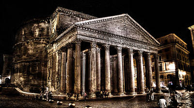 Photograph - The Pantheon At Night 2 by Weston Westmoreland