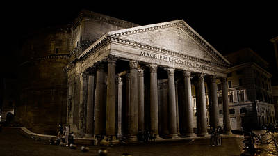 Photograph - The Pantheon At Night by Weston Westmoreland