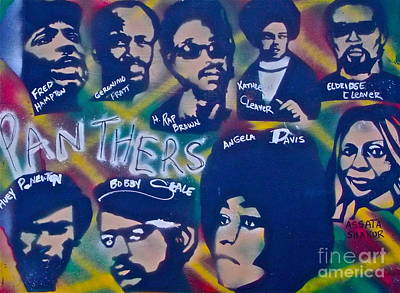 Dr. Martin Luther King Jr Painting - The Panthers by Tony B Conscious