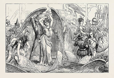 The Pantomimes Preparing For The Transformation Scene 1871 Art Print by English School